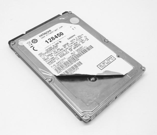 recuperare dati da un hard disk Hitachi HTS545050B9A300 bagnato