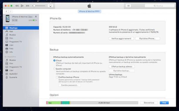 Cancellare dati da iPhone con Ripristino da iTunes