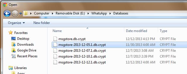 recupero dati file di backup android