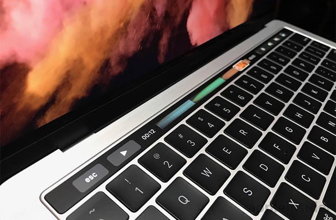 touch bar mac book pro