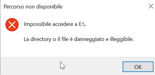 Recupero files danneggiati o illeggibili in Windows
