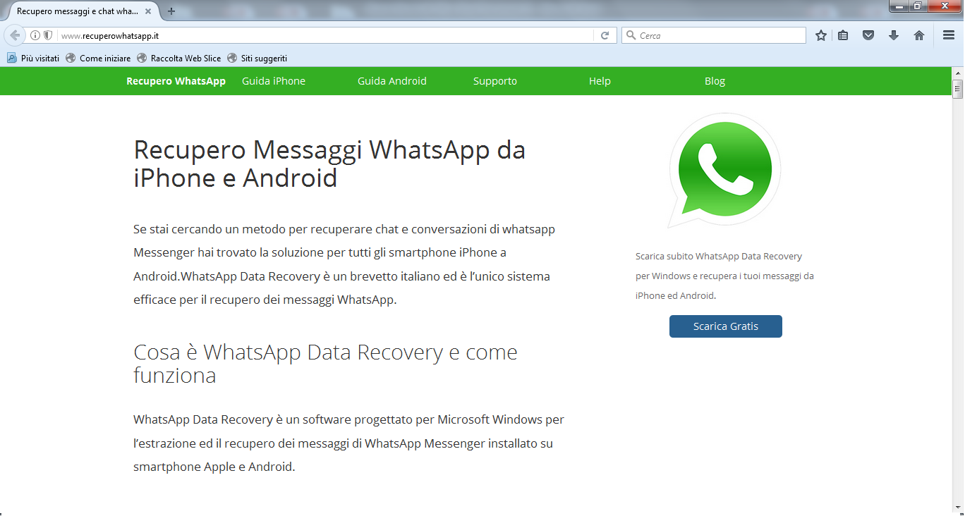 scarica whatsapp data recovery