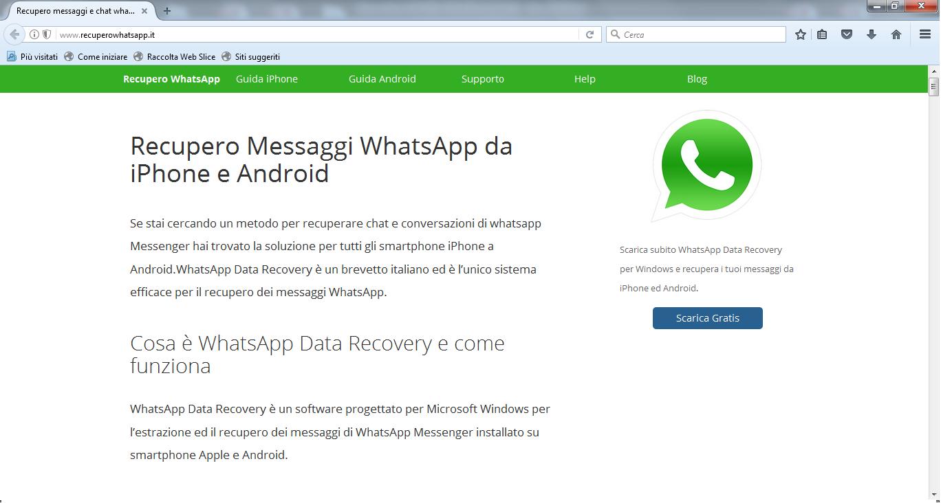 scarica whatsapp data recovery